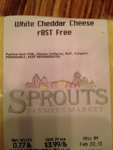 rBST free Cheese