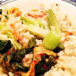Brown Rice, Baby Bok Choy and Kimchee?