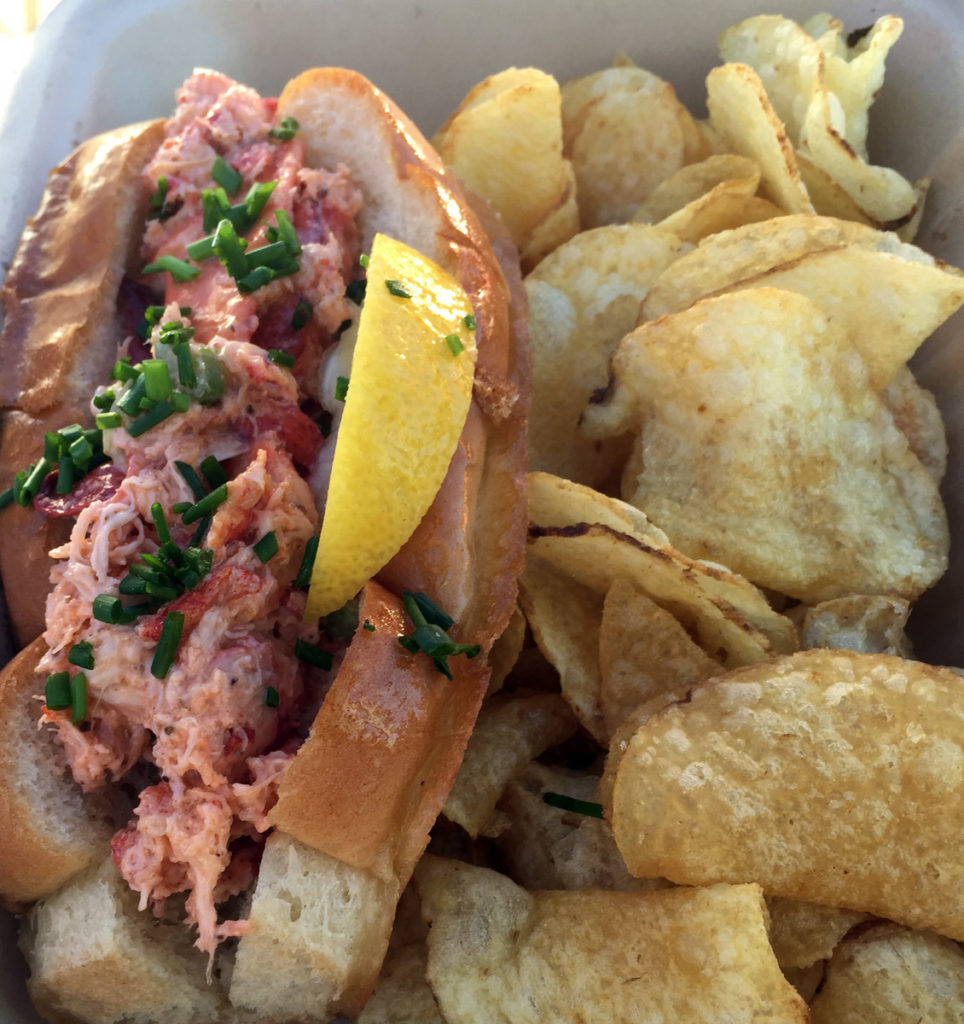 Lobster Roll with hand cut chips